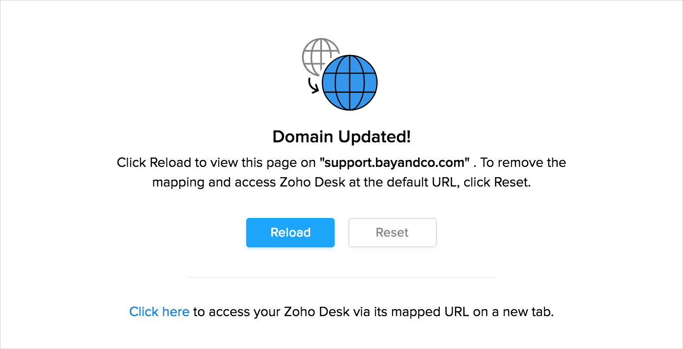 Domain/Host Mapping - Zoho Desk Knowledgebase